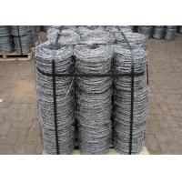 China Double Strands Electro Hot Dip Galvanzied Barbed Iron Wire 4 Inch Distance on sale