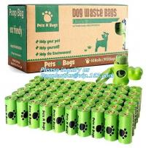 China PE Compostable dog poop bag/ pet waste Bags, Leak Proof Dog Waste Poop Bags, Environment Friendly Compostable Dog Pet Po on sale