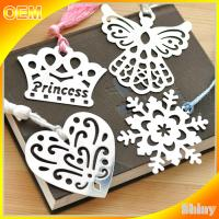 Etched Steel Metal Christmas Ornaments Personalized , Custom Metal Bookmarks