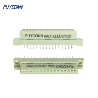 Quality 8 16 32 Pin PCB Straight 2 Rows 2x16P 32pin Female DIN 41612 Connector for sale