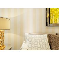 Buy Eco-friendly Vinyl Stripes Modern Removable Wallpaper for Living Room at wholesale prices