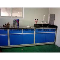 Quality Blue All Steel Laboratory Work Benches With Sink PP Pegboard / Adjustable Feet for sale