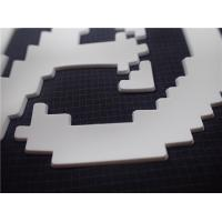 China Custom White Silicone Molding Heat Transfer Labels For Clothing 0.6MM Thickness on sale