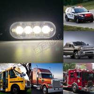 "Quality 3"" 8W LED strobe emergency light for sale"