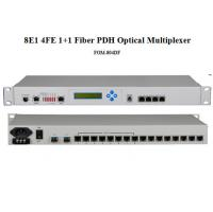 """Quality 8E1 4FE PDH Optical Multiplexer,19"""" 1U 8E1 4 Ethernet PDH optical modem,1+1 fiber optional for sale"""
