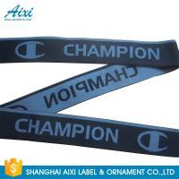 Buy cheap Eco - Friendly Webbing Tape Jacquard Elastic Waistband With Custom Printed Logo from wholesalers