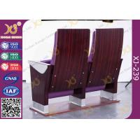 Safe Foldable Auditorium Chairs / College Lecture Hall Furniture of