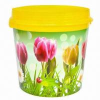 China In-mold Label, Glossy Effect, Trash Can on sale