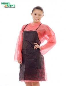 Quality Dirt Prevention Single Use Nonwoven Apron With Thin Ties for sale
