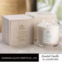 Luxury Three Wick Scented Candles , Multi Colored Soy Wax Candle ...