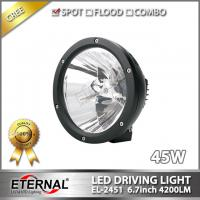 Buy cheap 2pcs 6.7in round LED driving light 45W Cannon LED spotlight for 4x4 off-road from wholesalers