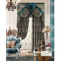 Quality Multi Color Floral Jacquard Sheer Lace Curtains Ready Made Window Curtain for Living Room for sale