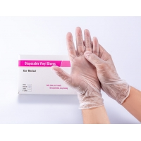 Quality Powder Free Disposable Vinyl Gloves For Medical Examination S M L XL for sale