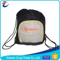 Quality Gym Sports Basketball Football Drawstring Bags Water Resistant Multifunction for sale