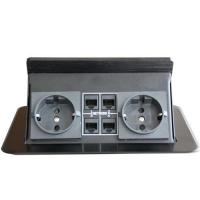China JS Hidden aluminium table outlet for conference or office table on sale