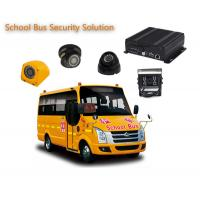 Quality 4 Channels 1080P / 720P 4 Camera Car DVR For School Buses , Mobile DVR Systems for sale