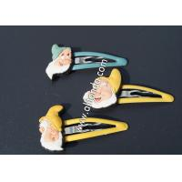 China Small children baby beautiful hairpins with pvc silicone cartoon figures cute hair decoration pins custom on sale