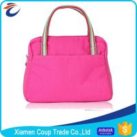 Quality Canvas Womens Tote Bags Romantic Pink Color Suitable For Promotional Gift for sale