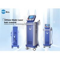 Quality Painless and permanent hair removal 808nm diode laser machine 500W portable large spot size imported sapphire for sale