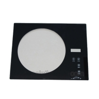 Quality Cutomized Circle Shape Tempered Oven Door Glass Heat Resistant for sale