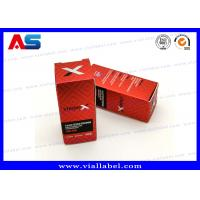 Buy cheap Laser Boxes For 10ml Vials Injectable Steroids 325g paper Custom Design Fast from wholesalers