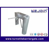 Buy cheap Waist High Rfid Turnstile Barrier Gate , Access Control Motorized Tripod Access System from wholesalers
