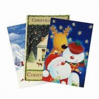 Quality Snowman Greeting Card with Glossy/Matte Lamination Surface Finish for sale