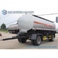 Buy 15000 L 2 Axles Oil Tank Trailer , Full stainless steel tanker trailers For Water / Chemical / LPG at wholesale prices