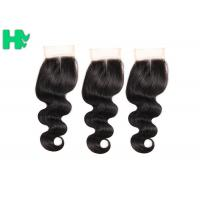 Buy cheap Body Wave Human Hair Closure Pieces , Middle Part Remy Human Hair Extensions from wholesalers