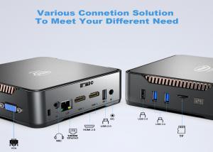Quality 3 Display Port Intel Celeron Mini PC J4125 With 2 HDMI Gemini LAKE Small Size for sale