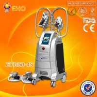 Quality 4 cryo handles/hot and cool therapy/ 2 handle can work togther cryolipolysis fat freezing liposuction machine for sale