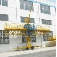 Quality 1000kg Loaded Steel Construction Lifting Platform, Single-Mast Climbing Working Gondola 8m for sale