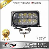 Quality 30W led work light 5x2 rectangle driving headlight spot flood in one for offroad 4x4 truck tractor trailer working lamp for sale