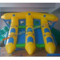China Yellow Inflatable Boat Toys , Inflatable Flyfish Boat Towable 4m x 4m on sale