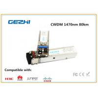 Quality 1000BASE - CWDM SMF SFP Fiber Module , 1470nm 80km single mode fiber transceiver Cisco Compatible for sale