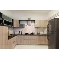 China Contemporary laminate commercial customized partical board material high quality kitchen cabinet on sale