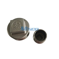Quality ASTM A351 304 316 Stainless Steel Square Plug Casting Pipe Fittings for sale