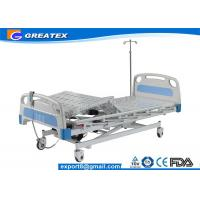 Quality Motorized Three Function Electric Hospital Bed Rental , Nursing Home Rotating hospital bed for sale