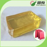 Quality Yellow and semi-transparent PackagingBlock Synthetic polymer resin Hot Melt Glue For handbag making in bottom (backing). for sale