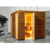 Quality Traditional German Saunas for Family, 4 Person Corner Sauna Room for sale