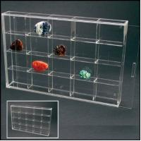 Quality Acrylic Glass Display Case for Rocks, Minerals & Figurines 20 compartments for sale