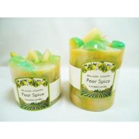 Quality Fruit Pillar Lavender Perfume Scented Candles, Paraffin Wax for sale