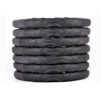 Buy cheap 3D massage black car steering wheel cover dull polish leather with hole from wholesalers