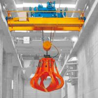 Quality Warehouse High Duty Garbage Crane Electric Hoist Double Four Wire Rope Grab for sale