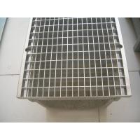 U shape drainage channel with metal steel grates of trench-drain
