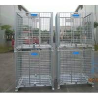 Quality Large Stackable Steel Wire Mesh Cage W1200 * D1000 * H890mm Galvanized Finishes for sale