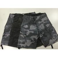 China Camouflage Short Work Pants , Mens Black Combat Trousers For Police  / Army on sale