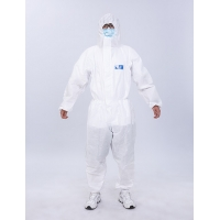 Quality XXL Medical Protective Coverall Disposable Chemical White 185cm GB19082 for sale