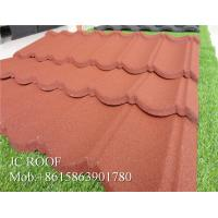 Quality Lightful House Shingle Colour Coated Steel Roofing Sheets 1300*420mm Overall Size for sale