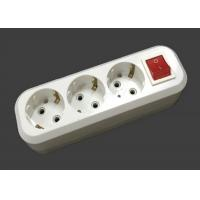 Quality 3500W 220V - 250V Electric Extension Cord 3 Outlets ABS Material With Switch for sale
